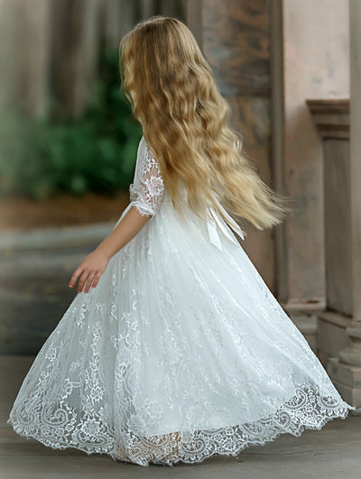 Esther Flower Girl White Dress