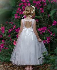 Alana LONG Flower Girl Off White Dress