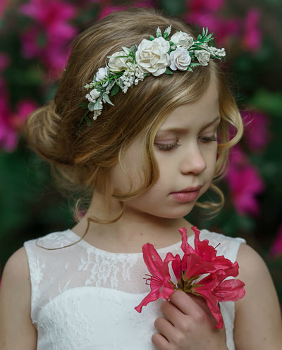 Everly Flower Girl Crown