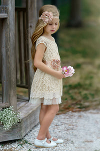 Arabella Flower Girl Dress W/ Flower Sash