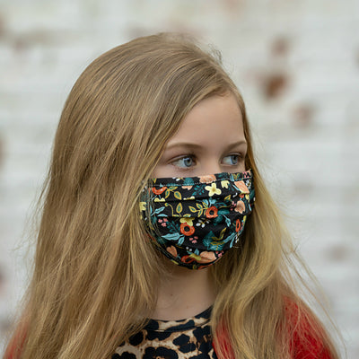 PLY MASK BLACK FLORAL