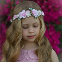 Kennedy Flower Girl Crown Pink