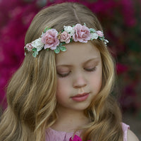 Kennedy Flower Girl Crown Blush