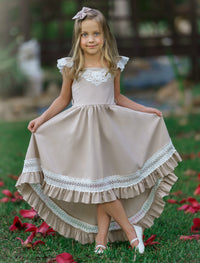 Matilda High Low  Dress Natural