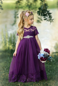 Antonella Dress - Eggplant
