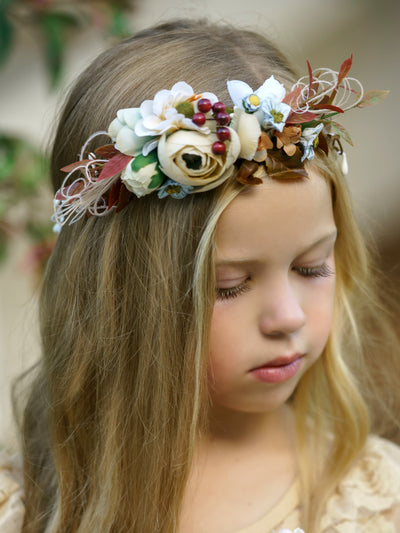 Holly Flower Girl Crown