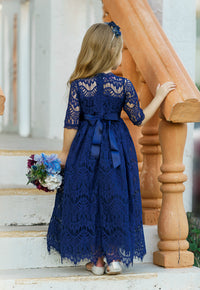 Josephine Long Navy Dress