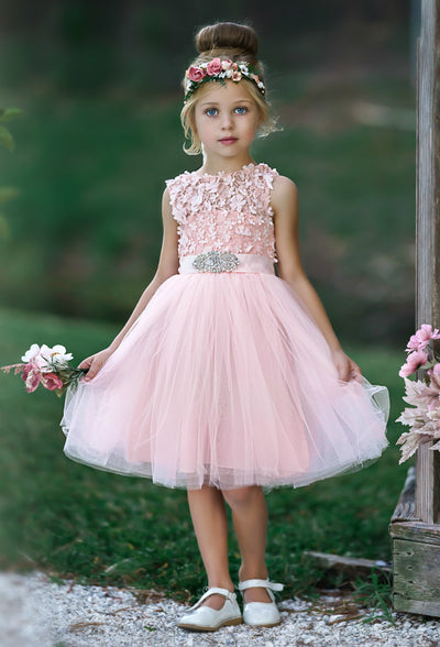 Charlotte Flower Girl Dress Pink