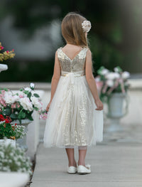 Vera Flower Girl Sequin Dress