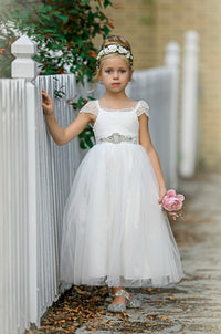 Amara Flower Girl Off White Dress