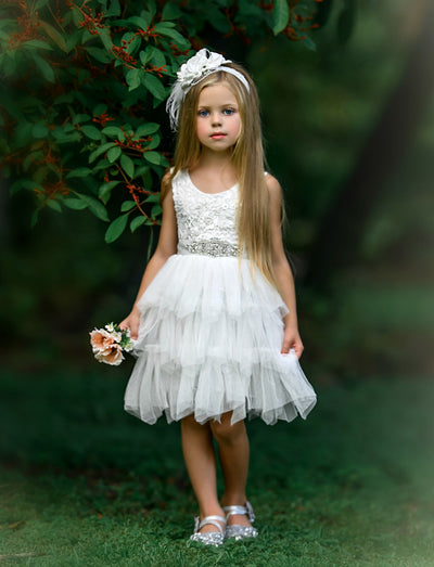 Claire Flower Girl Dress Off White