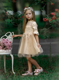 Elizabetta Dress - Gold