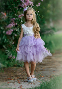Claire Flower Girl Dress Lavender
