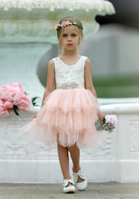 Claire Flower Girl Dress Blush