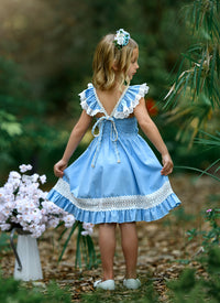 Matilda Dress - Sky Blue