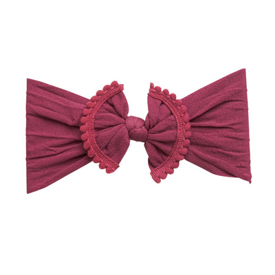 Pom Pom Nylon Headwrap Mulberry 35