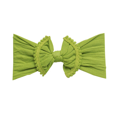 Pom Pom Nylon Headwrap Greenery 19