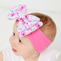 ALEXA DOUBLE BOW on NYLON  Headwraps - LL11
