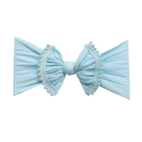 Pom Pom Nylon Headwrap Blue 1