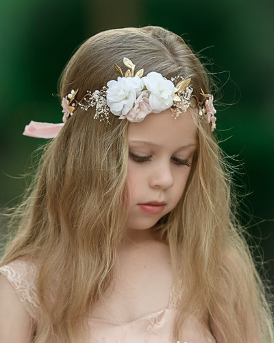Evangeline Flower Girl Crown