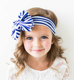 Striped Big Bow Headwraps - Think Pink Bows - 4