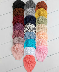 Turban FLOWER Hats 22 Colors