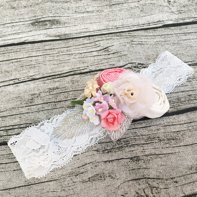 Eleanor Couture Flower Lace Headband