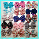 Patterned Chiffon Bow Headband - Think Pink Bows - 4
