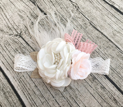Esther Couture Flower Lace Headband