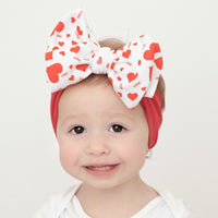 Lola Nylon Headwraps Valentine Red