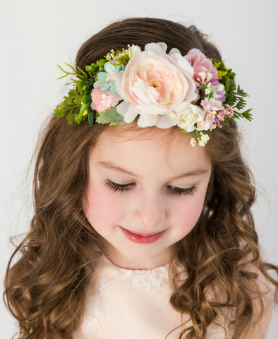 Ines Flower Girl Crown