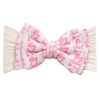 ALEXA DOUBLE BOW on NYLON  Headwraps - LL1