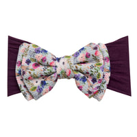 ALEXA DOUBLE BOW on NYLON  Headwraps - LL4