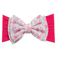 ALEXA DOUBLE BOW on NYLON  Headwraps - LL7