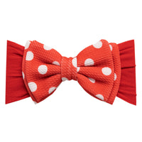 ALEXA DOUBLE BOW on NYLON  Headwraps - LL21