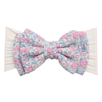 ALEXA DOUBLE BOW on NYLON  Headwraps - LL13