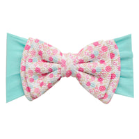 ALEXA DOUBLE BOW on NYLON  Headwraps - LL10