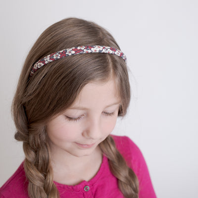 FLORAL Fabric Hard Headbands REESE