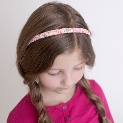 FLORAL Fabric Hard Headbands NATALIE