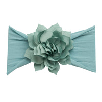 Dahlia Nylon FLOWER Headwraps CAPRI BLUE 43