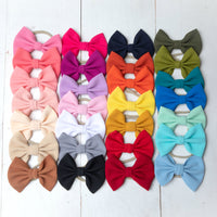 Lulu Bow Nylon Headbands | 30 Colors