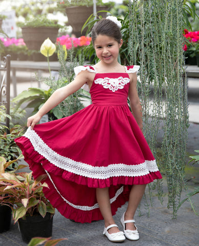 45ea9669784 Matilda High Low Dress Raspberry