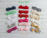 Piper Style Bow Headwrap - 18 colors available - Think Pink Bows - 2