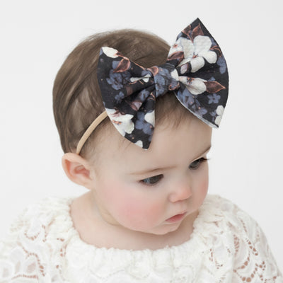 Lulu Bow Nylon Headband Prints 8