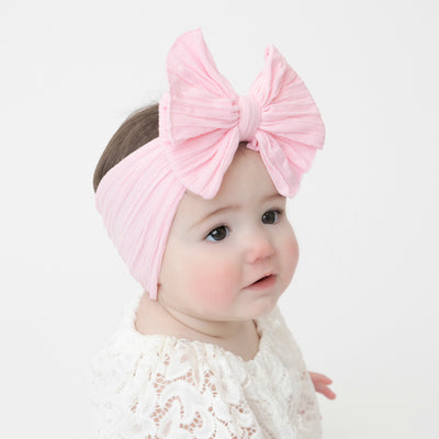 Eva Cable Knit Nylon Headwraps Pink 4