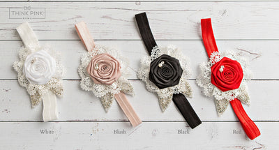 Vintage Romance Flower Headband - 4 Colors