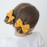 Hand Tied Corduroy Bow Hair Clips 24 Colors