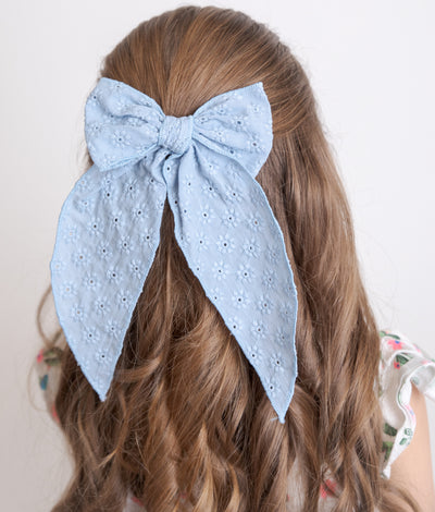 PIXIE FABLE BOW EYELET BLUE