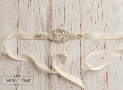 Center of Attention Bling Bridal Sash