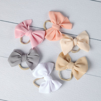 Lexi Bow Nylon Headbands 6 Colors